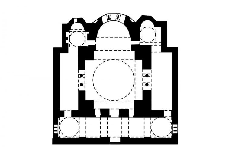 The original plan for the church of Chora