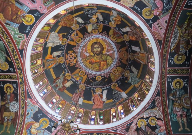 Painting the dome in the temple