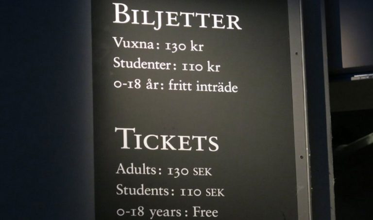 Ticket price for Vasa Museum
