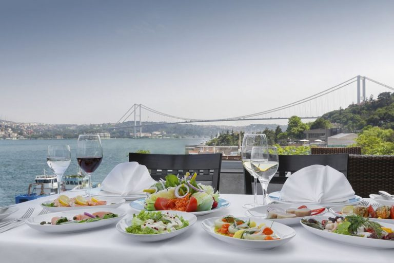 Restaurant overlooking the Bosphorus