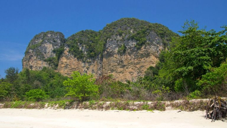 The picturesque cliffs of the island of Poda