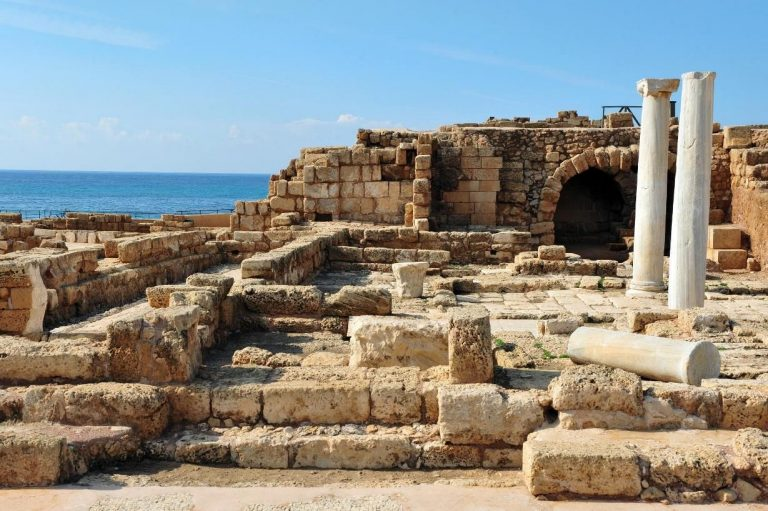 The ruins of Caesarea Palestine