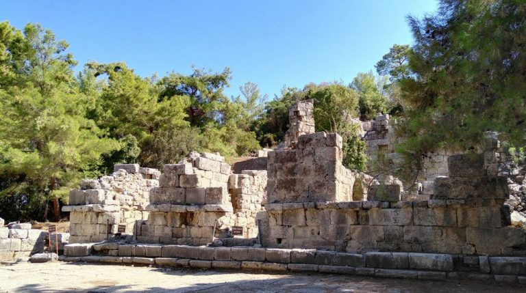 The ruins of the old city of Phaselis