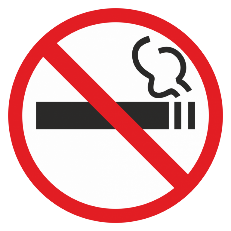 Smoking at stations, platforms and in cars is strictly prohibited