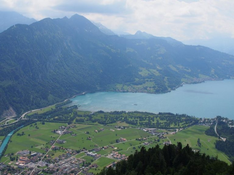 View from the observation deck Harder Kulm