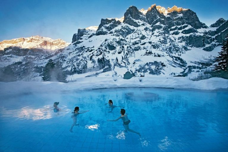 Therapeutic bathing in the springs of Leukerbad