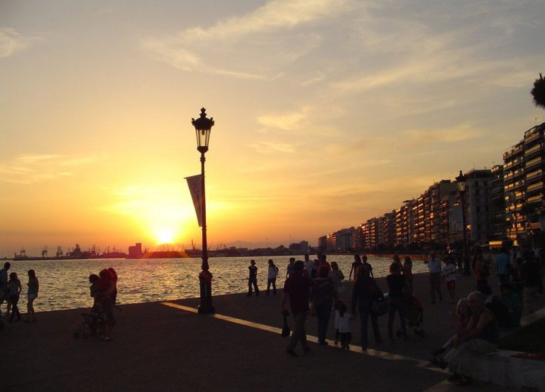 Evening promenade in Thessaloniki