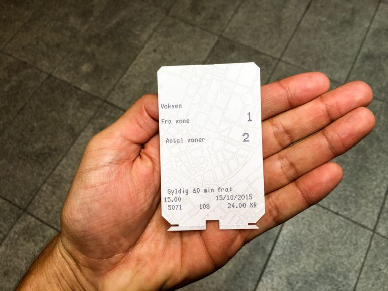 Copenhagen metro ticket