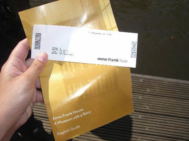 Ticket to the Anne Frank Museum