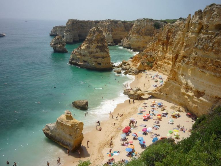 Top view of the beach of Marinha