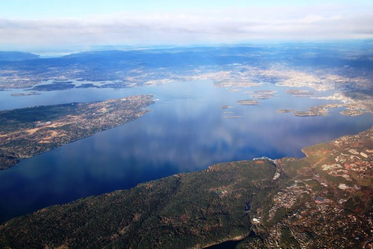 Top view of the Oslo fjord