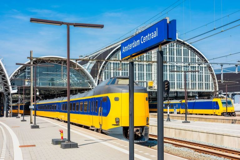 Trains from Amsterdam Centraal Station