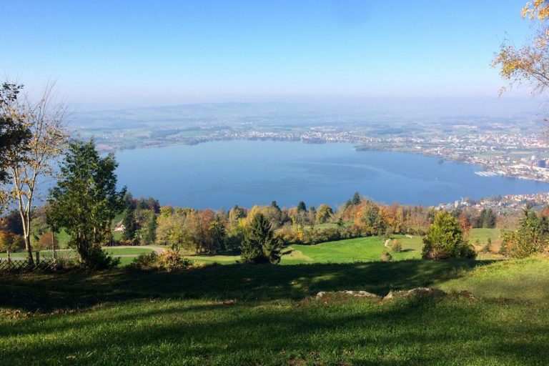 View from the Zug mountain to the lake