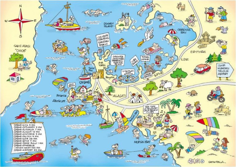 Touristic map of Cesme