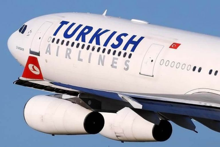 Direct flight by Turkish airlines