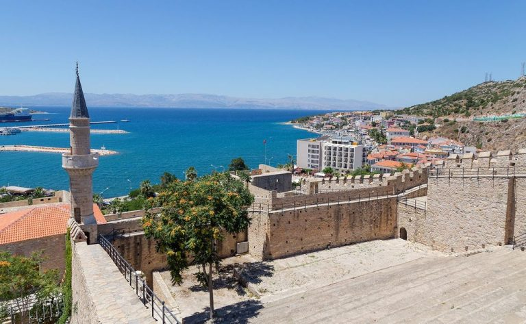 View from Cesme Fortress