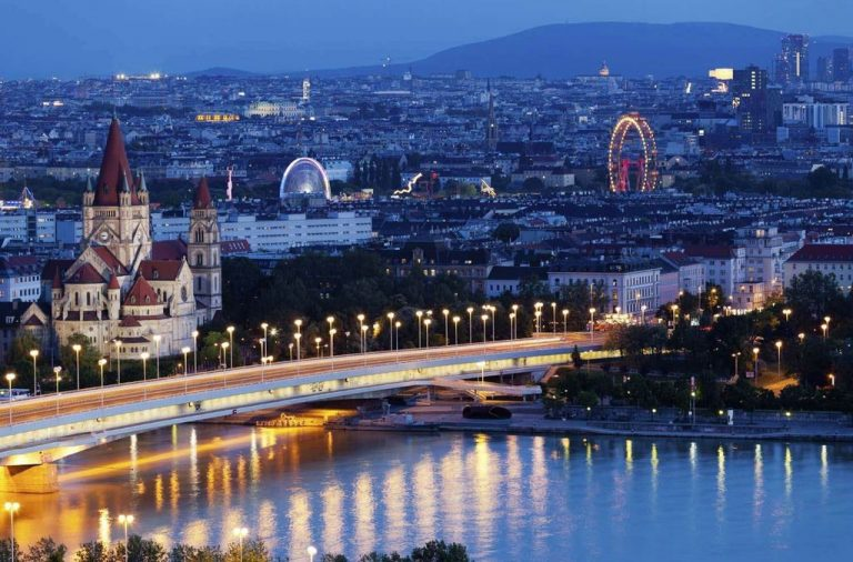 View of Vienna at Night