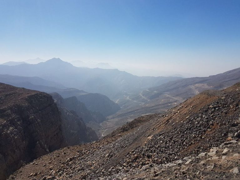 View from Mount Jebel Jais