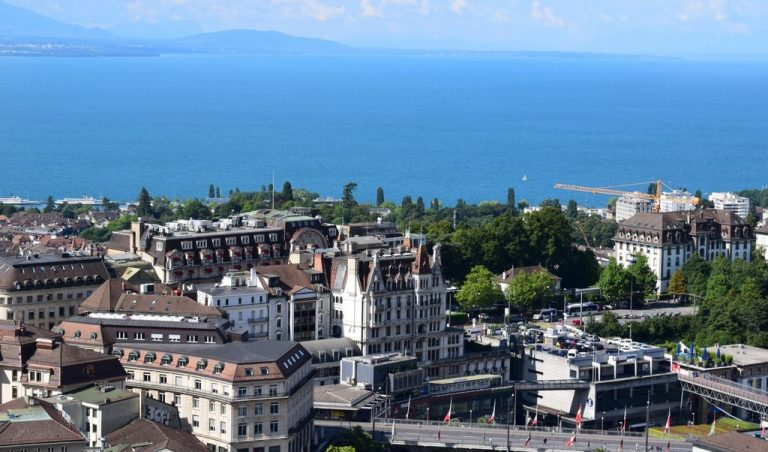 View from the Cathedral of Lausanne