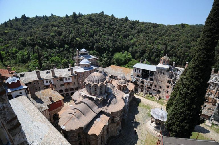 View of the monastery from the tower of St.  Savva
