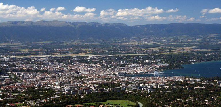 View of Geneva from Mount Salev