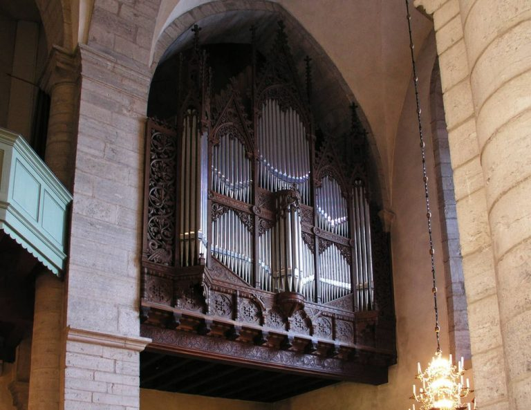 Organ in the church of St. Mary