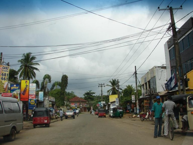 Photo: central street of Wadduwa resort