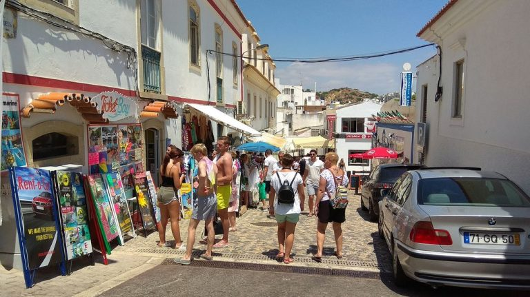 Walk the streets of the old town of Albufeira