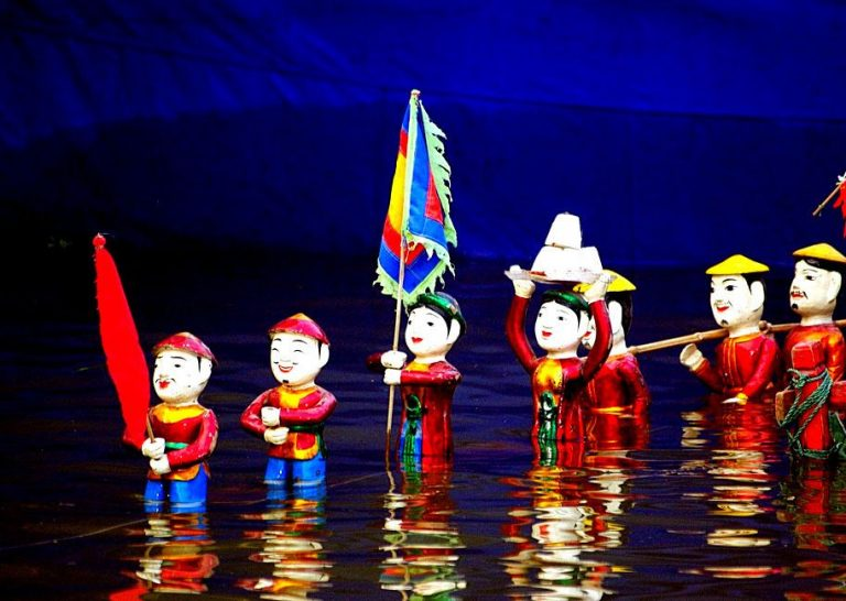 Puppet theater on the water