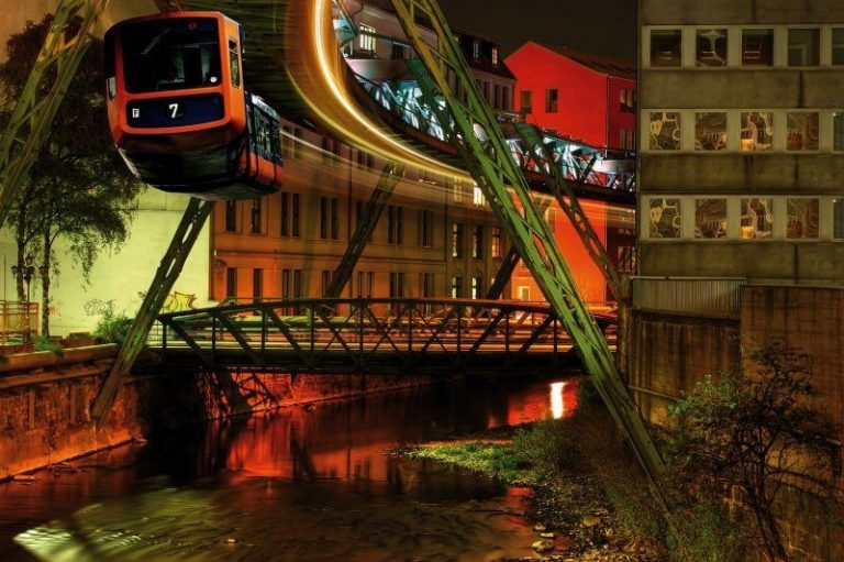 Suspension Railway in the evening
