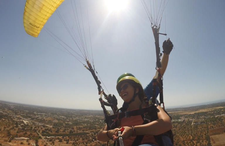 You can fly a paraglider