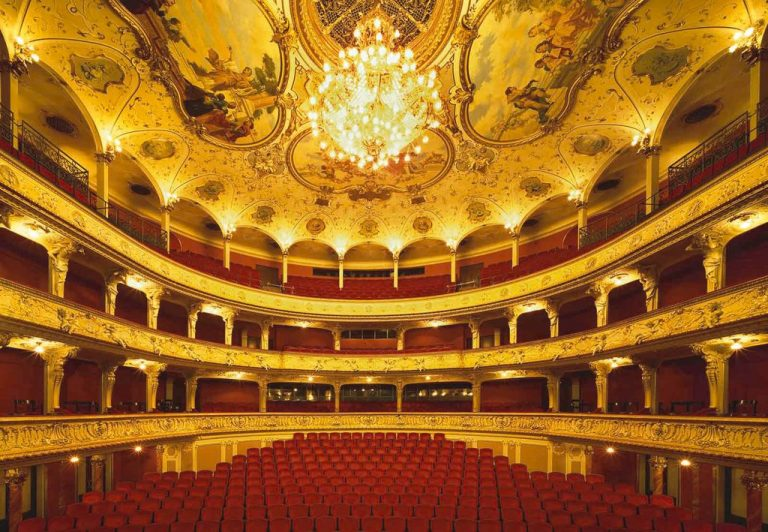In the hall of the Zurich Opera