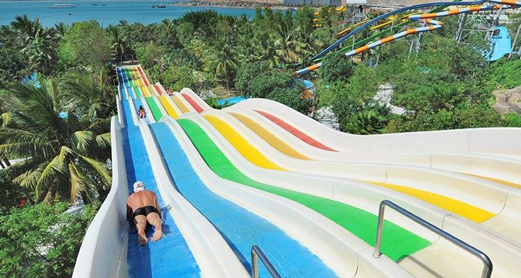 One of the slides of the water park