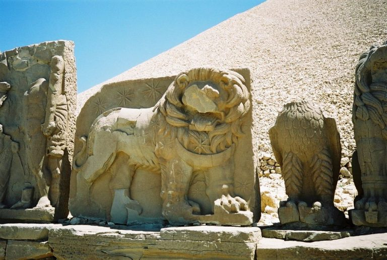 Bas-relief with a figure of a lion