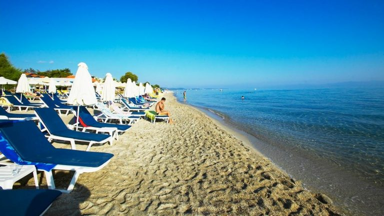 Holiday on the beach in Chaniotis, Halkidiki