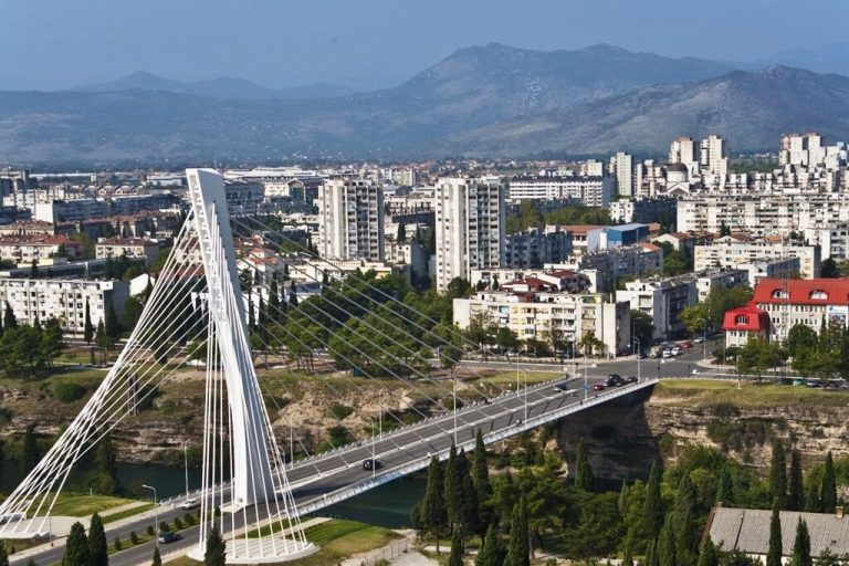 The Millennium Bridge in Podgorica