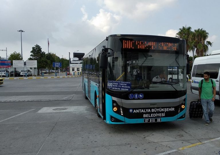 By bus from Antalya Airport