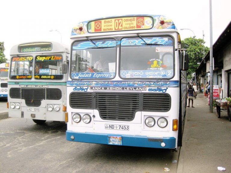 Bus 02, from where you can travel from Colombo to Bentota