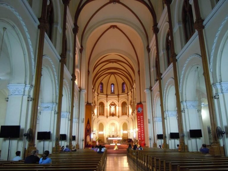 At Notre Dame Cathedral in Ho Chi Minh City