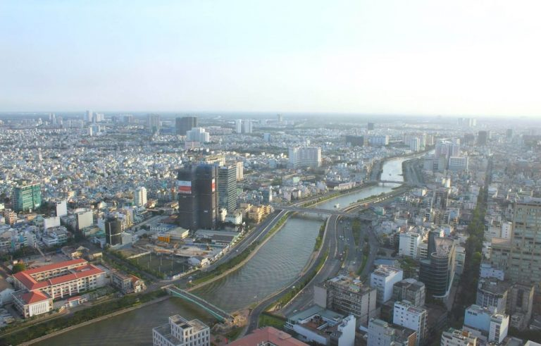 View of the city from the observation deck Bitexco