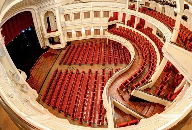 At the Saigon Opera House Theater in Ho Chi Minh City