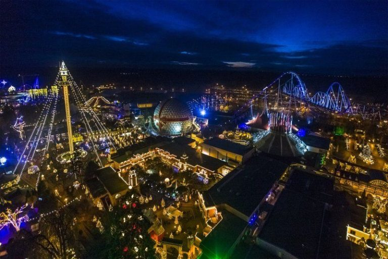 View of the evening Europa Park