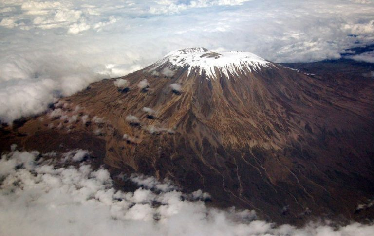 View of the top of Mount Kilimanjaro