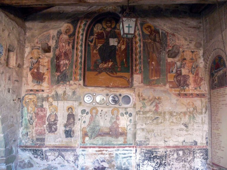 Mural of the Second Advent in the monastery of Megal Meteor