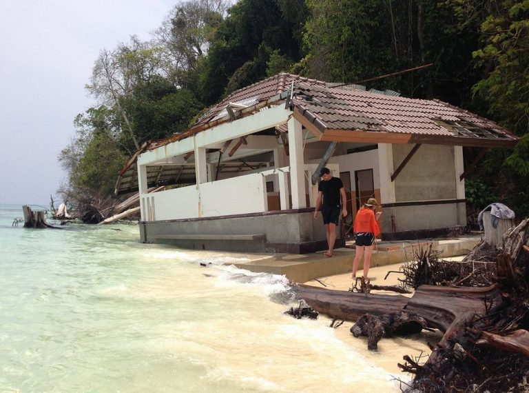 House after the tsunami