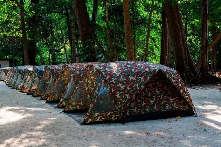 Tents on the island of Similan