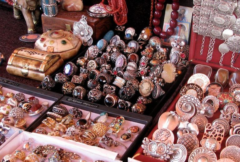 Jewelry at the souvenir market