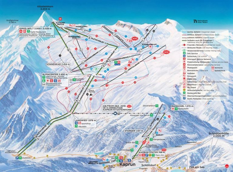Kaprun Descent Map