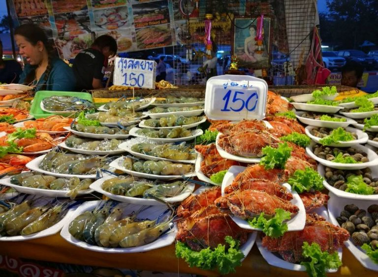 At the night market in Pattaya