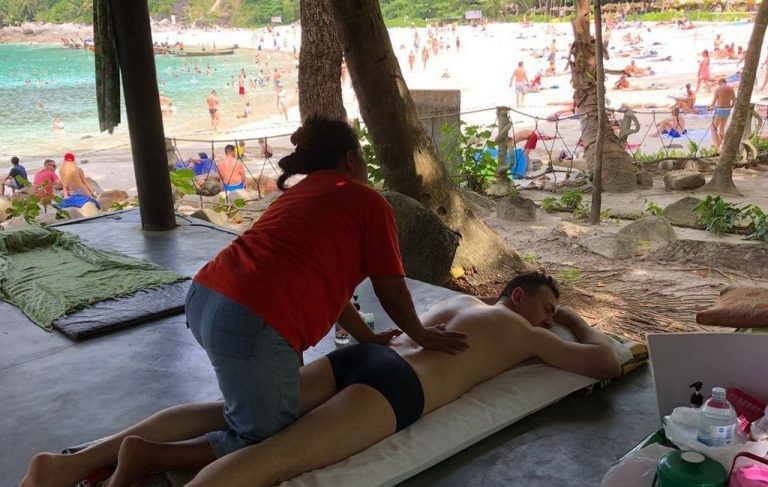 Massage at Freedom Beach